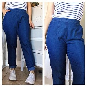 Vintage Alia Blue High Waisted Mom Pants